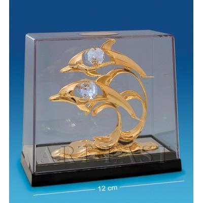 """Фигурка """"Дельфины"""" 12x6x10 см., Crystal Temptations, США"""