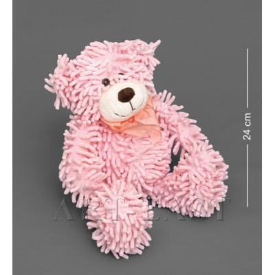 Мягкая игрушка медведь с бантиком - розовый 35см Color Rich