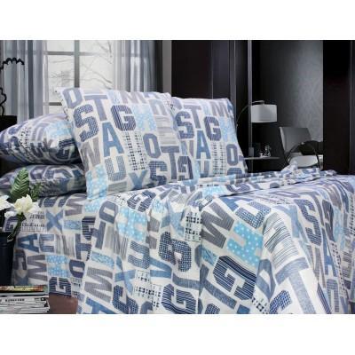 Комплект постельного белья Полуторный, Бязь-100% хлопок (1.5-сп.ЕТ0675)