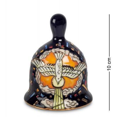 """Колокол """"Голубь - символ Святого Духа"""" 7,5x7,5x10 см., фарфор Pavone, Италия"""