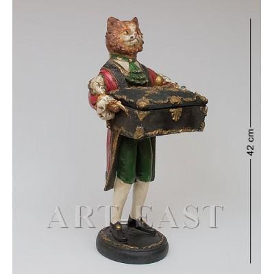 "Статуэтка со шкатулкой ""Кот Чарльз"" 21x20x42 см., полистоун Noble Style"