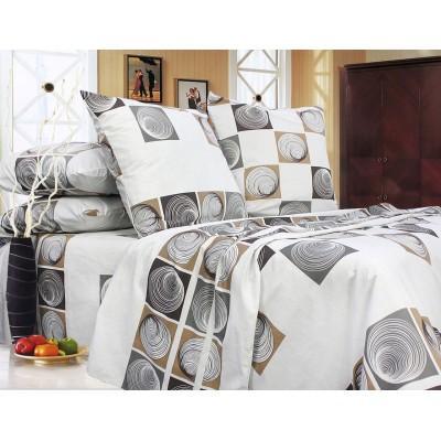 Комплект постельного белья Полуторный, Бязь-100% хлопок (1.5-сп.ЕТ0666)