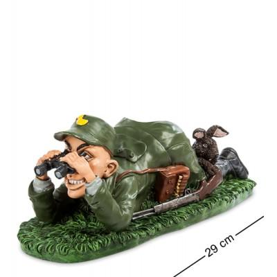 "Статуэтка-подставка под бутылку ""Охотник"" 29x12,5x11 см., полистоун Warren Stratford Канада"