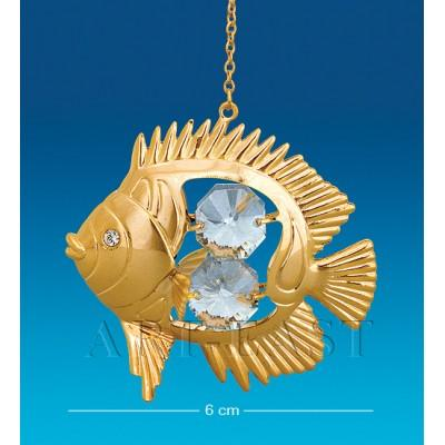 """Подвеска """"Рыбка-Дискус"""" 6х2,5х5,5 см., Crystal Temptations, США"""