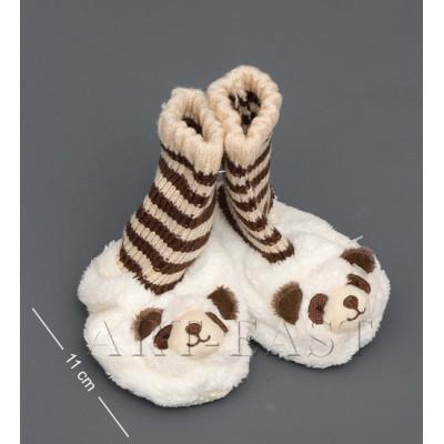 """Детские тапочки-зверюшки """"Панда""""детские 13х6х13 см., Color Rich"""