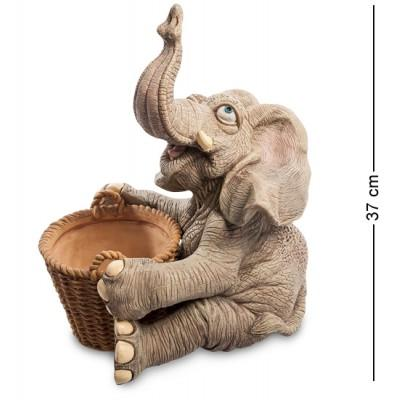 """Статуэтка Кашпо """"Слон"""" 26,6x29x37 см., полистоун Sealmark, США"""