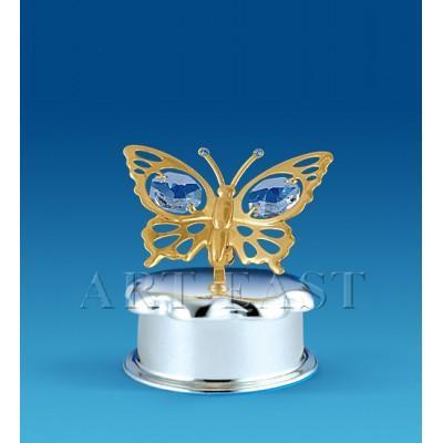 "Шкатулка ""Бабочка"" 5,5x5,5x5,5 см., Crystal Temptations, США"