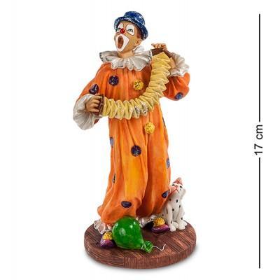 """Статуэтка """"Клоун с гармошкой"""" 9,5x8x16,5 см., Veronese, Гонконг"""