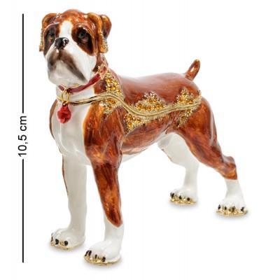 """Статуэтка-шкатулка """"Собака боксер"""", 13x4x10,5 см., Nobility, Гонконг"""