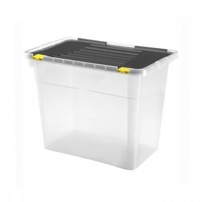 Ящик-контейнер пластиковый с крышкой 54 л., 58x36,5х37,5 см., Италия