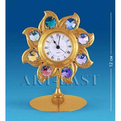 """Часы """"Солнце"""" 10x8x12 см., с цвет. крист. Crystal Temptations, США"""