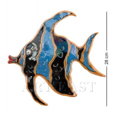 """Панно настенное """"Рыба"""" 29x2,5x28 см., Blue Sky, Италия"""