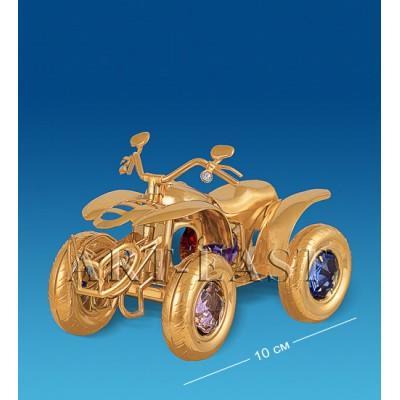 """Фигурка """"Мотоцикл 4-х колесный"""" 10x5x7 см., с цвет. крист. Crystal Temptations, США"""