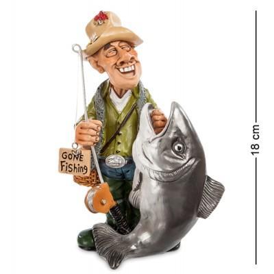 """Фигурка """"Рыбак"""" 12x8,5x18 см., полистоун Warren Stratford Канада"""