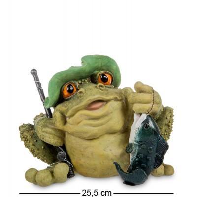 """Статуэтка-копилка Лягушка """"Рыбак"""" 25,5x19x19,5 см., полистоун Sealmark, США"""