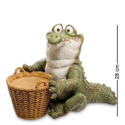 """Статуэтка Кашпо """"Крокодил"""" 25x37x28 см., полистоун Sealmark, США"""