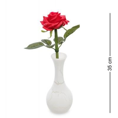 Ночник Роза в вазочке со светодиодной подсветкой, 35 см