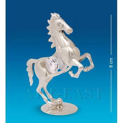 """Фигурка """"Лошадь"""" 6,5x3,5x8 см., посеребр. Crystal Temptations, США"""