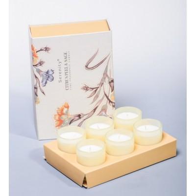 """Набор из 6 свечей аром. """"Цитрус и шалфей"""" Serenity Candles, Австралия"""