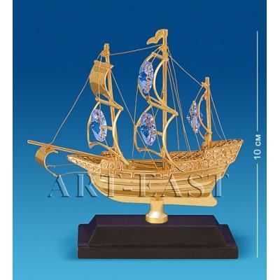 "Фигурка ""Корабль на подставке"" 10x4x10 см., Crystal Temptations, США"