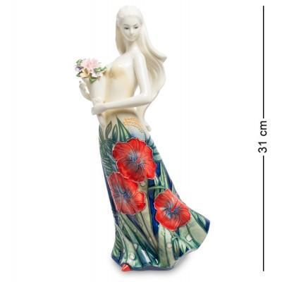 """Статуэтка """"Девушка"""" 15x12,5x31 см., фарфор Pavone, Италия"""
