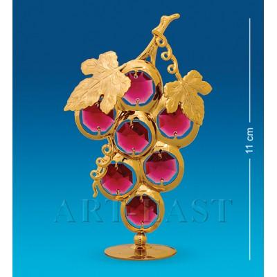"Фигурка ""Гроздь винограда"" 7x3x11 см., с цвет. крист. Crystal Temptations, США"