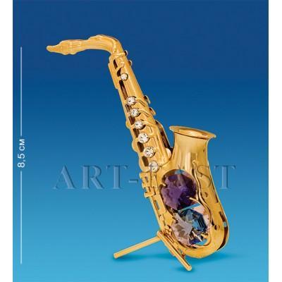 """Фигурка """"Саксофон"""" 5,5x3,5x10,5 см., с цвет. крист. Crystal Temptations, США"""