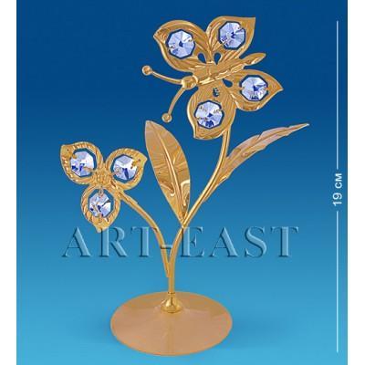"Фигурка ""Бабочка на цветке"" 15x8x19 см., Crystal Temptations, США"