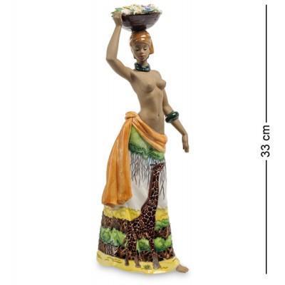 "Фигурка ""Африканка"" 14x11x31,5 см., фарфор Pavone, Италия"