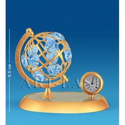 "Фигурка с часами ""Глобус"" 10x7x8,5 см., Crystal Temptations, США"