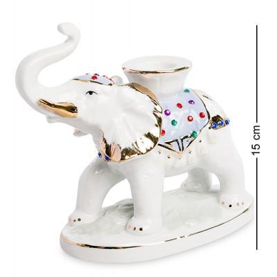 """Подсвечник """"Слон со стразами"""", 17x17x15 см., фарфор"""
