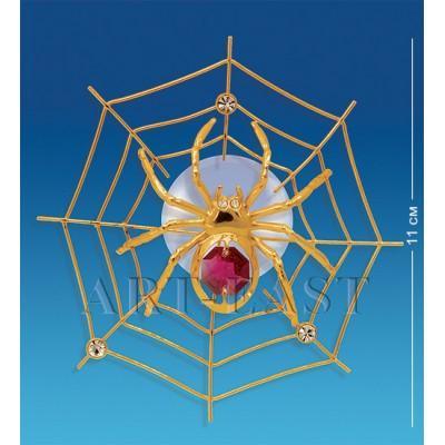 """Фигурка на липучке """"Паутинка"""" 11x10,5x3 см., с цвет. крист. Crystal Temptations, США"""