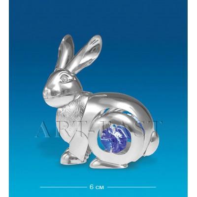 "Фигурка ""Кролик"" 6 см., посеребр. с цвет. крист. Crystal Temptations, США"