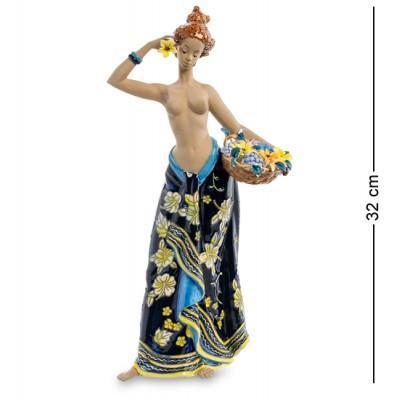 "Фигурка ""Африканка"" 15x10,5x30,5 см., фарфор Pavone, Италия"