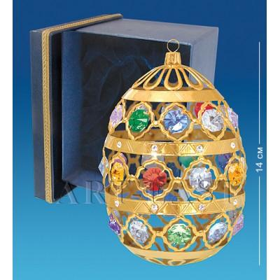 "Фигурка ""Яйцо"" 10x10x14 см., с цвет. крист. Crystal Temptations, США"