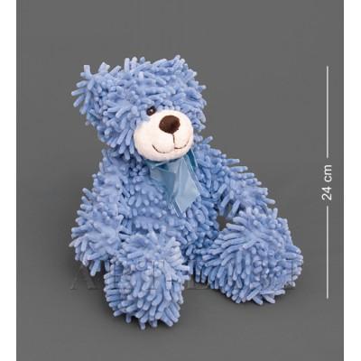 Мягкая игрушка медведь с бантиком - синий 35см., Color Rich