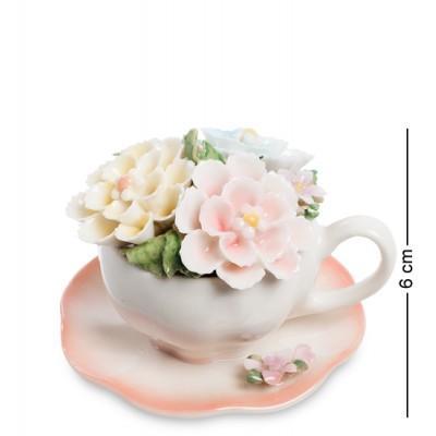 """Композиция чаша """"Весенние цветы"""", 8x8x6 см., Pavone, Италия"""