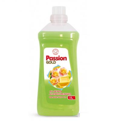 Универсальное средство для мытья пола Passion Gold зелёное с мылом 1 л.