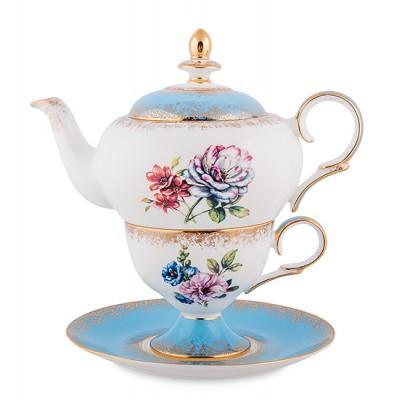 Чайный набор 150/450 мл., 'Цветок Неаполя'' фарфор Pavone, Италия