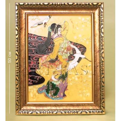 """Картина """"Гейша"""", 50 см., фарфор Pavone, Италия"""