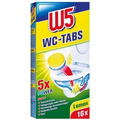 Таблетки для чистки унитаза W5, 16 шт., Германия