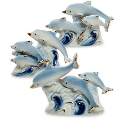 """Фигурка """"Семейство дельфинов', 10 см"""