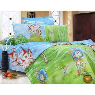 Комплект постельного белья Полуторный, Бязь-100% хлопок (1.5-сп.ЕТ0621)
