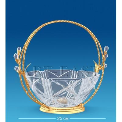Фруктовница хрустальная 26x17,5x21,5 см., Crystal Temptations, США