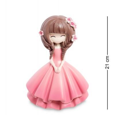 """Статуэтка-копилка """"Девочка в розовом платье"""", 21 см., полистоун"""
