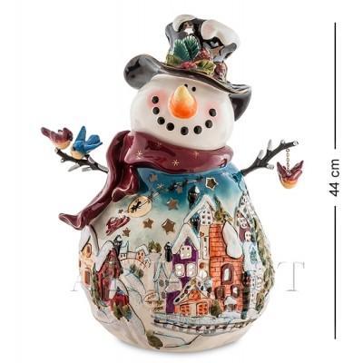 "Статуэтка-подсвечник ""Снеговик"" 35x27x44 см., Blue Sky, Италия"
