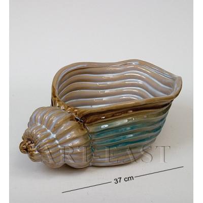 Ваза-кашпо Ракушка 37 см., керамика