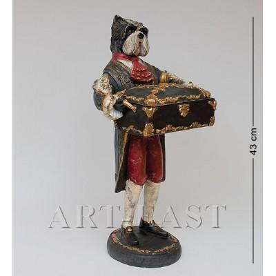 "Статуэтка со шкатулкой ""Терьер Мэтью"", 21x18,5x43 см., полистоун Noble Style"