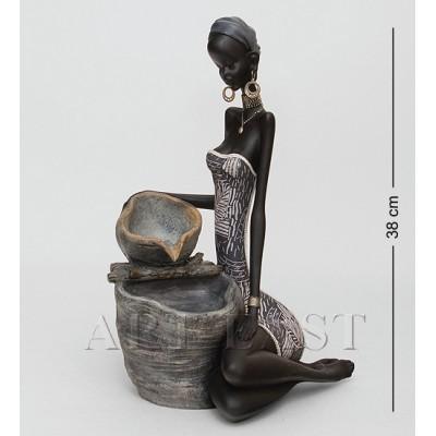 """Статуэтка-фонтан """"Африканская пара"""" 25x21x38 см., полистоун"""