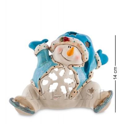 """Подсвечник """"Снеговик"""", 19x12x14 см., фарфор Pavone, Италия"""